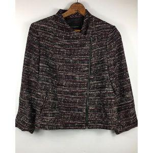 Banana Republic Womens 16 Purple Tweed Jacket NEW
